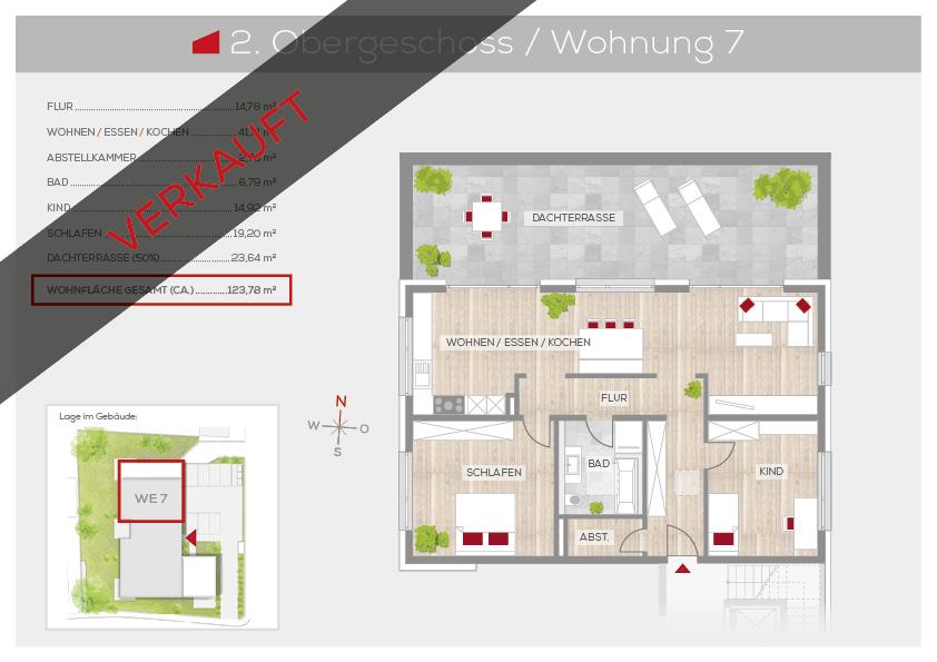 Grundriss Wohnung 7, 2. OG | Frankenresidenz Ottensoos | Frankenresidenz