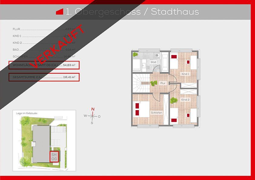 Grundriss 1. Obergeschoss | Frankenresidenz Ottensoos | Frankenresidenz