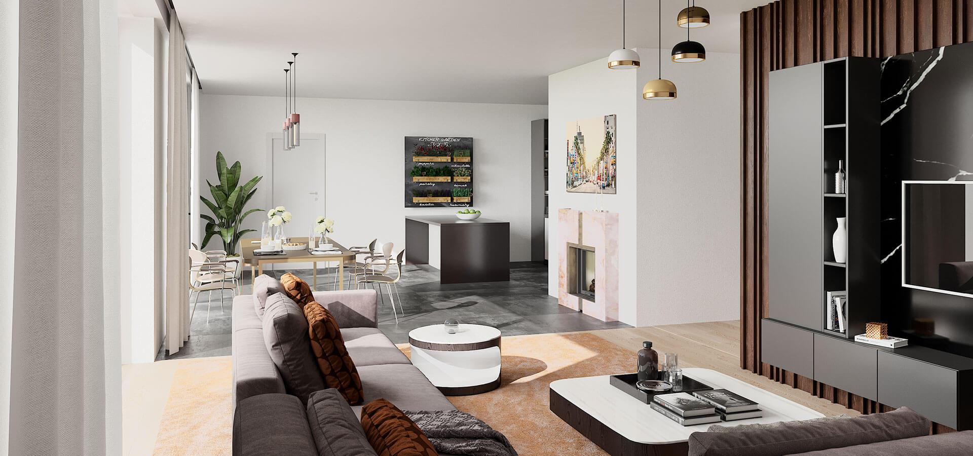 Beispielansicht Wohn- und Essbereich | Frankenresidenz Entensee | Frankenresidenz