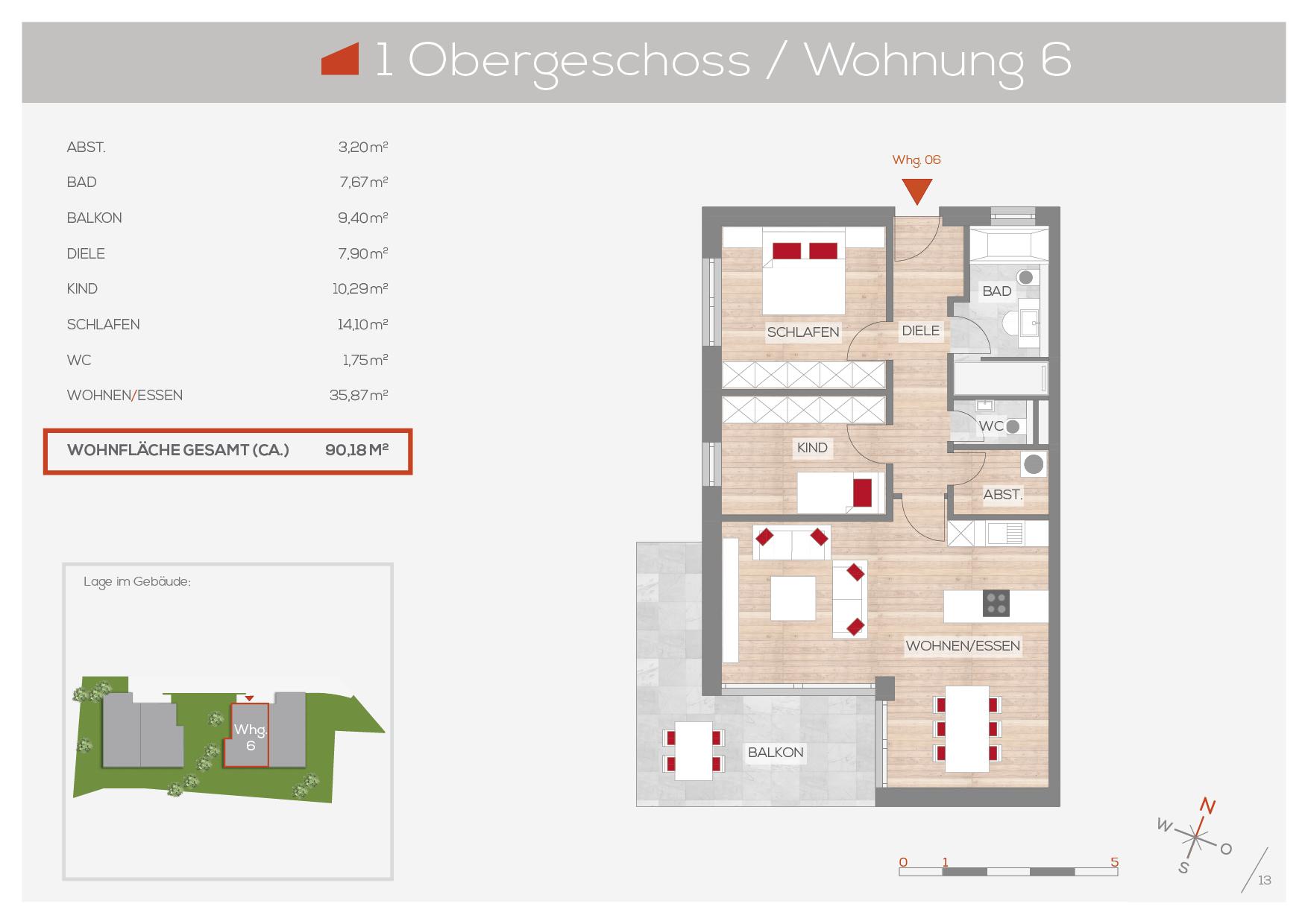 Grundriss Wohnung 6, 1. OG | Frankenresidenz Entensee | Frankenresidenz