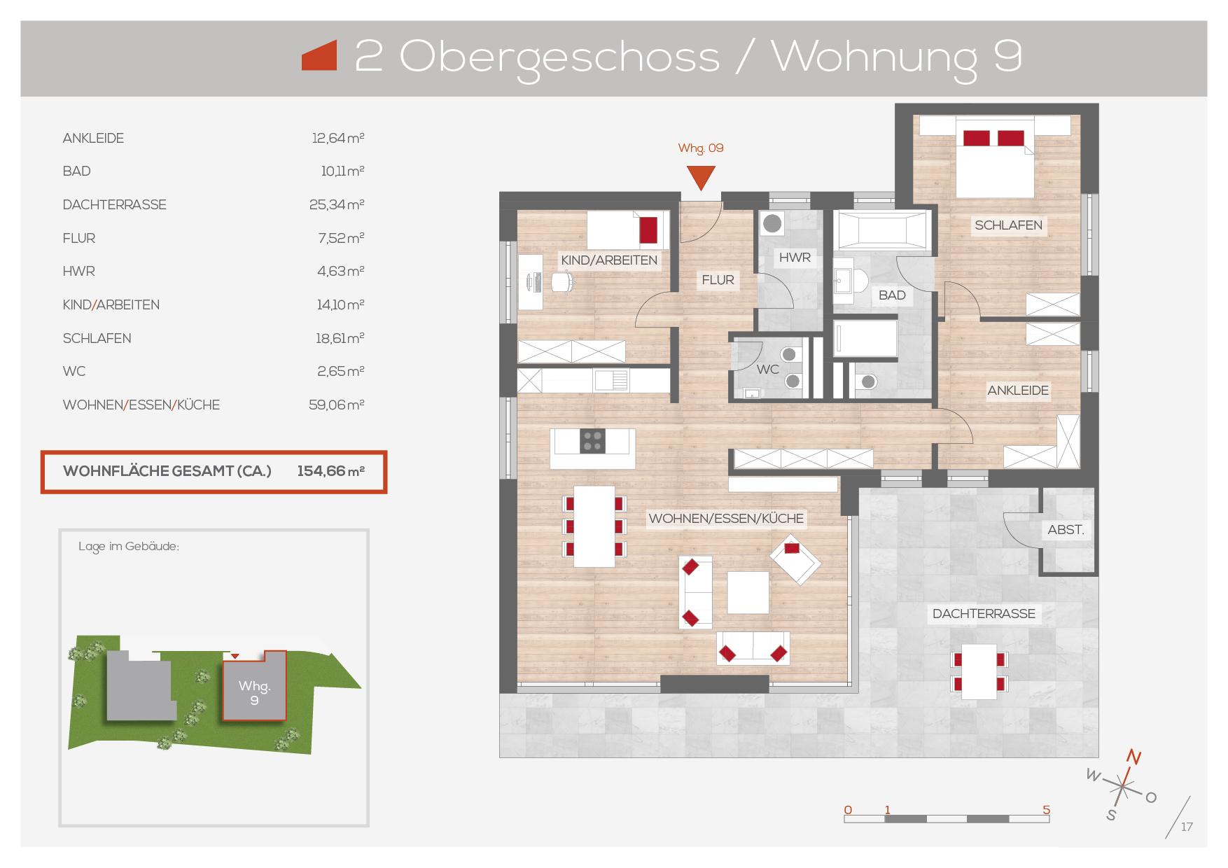 Grundriss Wohnung 9, 2. OG | Frankenresidenz Entensee | Frankenresidenz